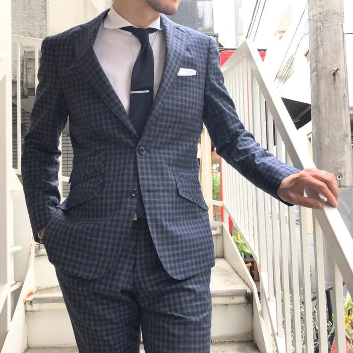 やっぱりチェックなスーツが非常に好き!イタリア・カノニコのチェックスーツ!