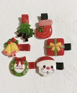 ★クリスマス★ヘアクリップ