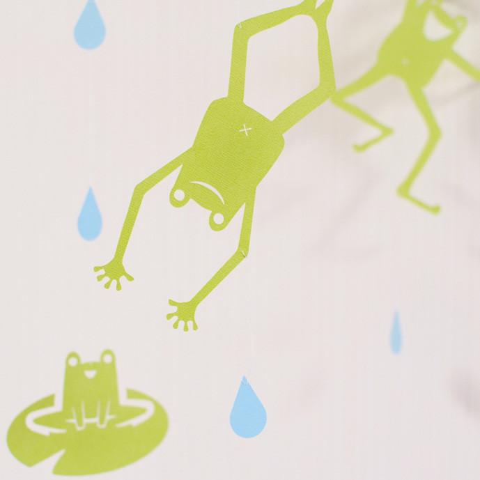 梅雨も楽しく♪笑顔でいっぱい『カエルのモビール』お部屋が楽しくなるインテリア