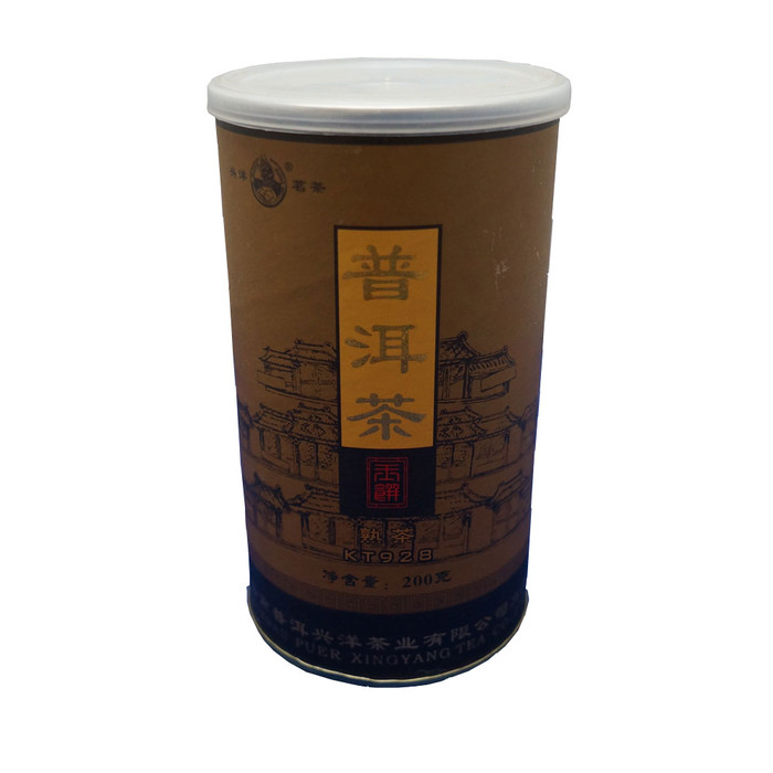 飲み終わったあとも使える、おしゃれな缶に入っているプアール茶