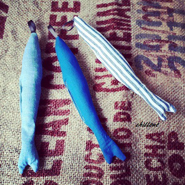 Smoky blue Fish garland 3set そして春の訪れ