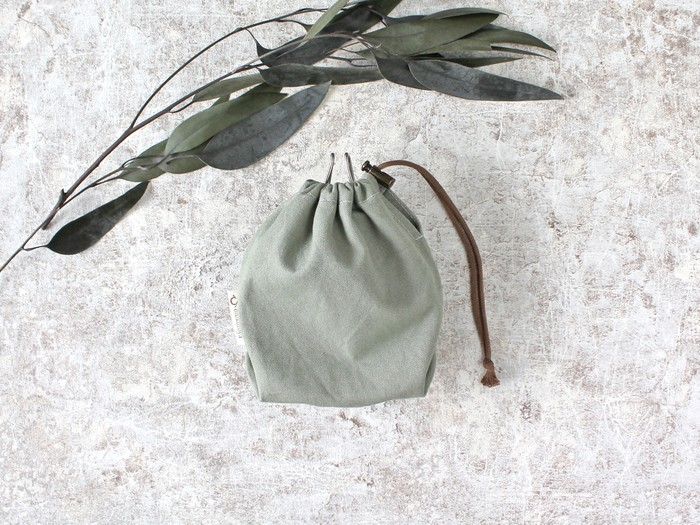 アウトドアギア専用巾着袋「Kinchaku Outdoor」シェラカップ用巾着のご紹介