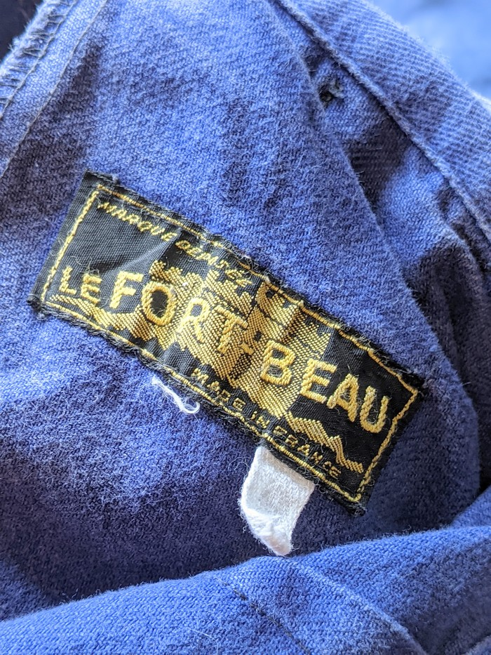 1950s-60s LE BEAU-FORT France Work Tuck Pants W36