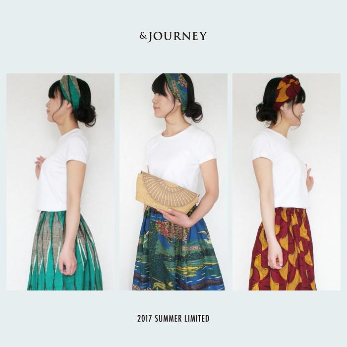 【&JOURNEYオリジナル】アフリカンプリントのスカート&ヘアバンドセット/ 発売start!