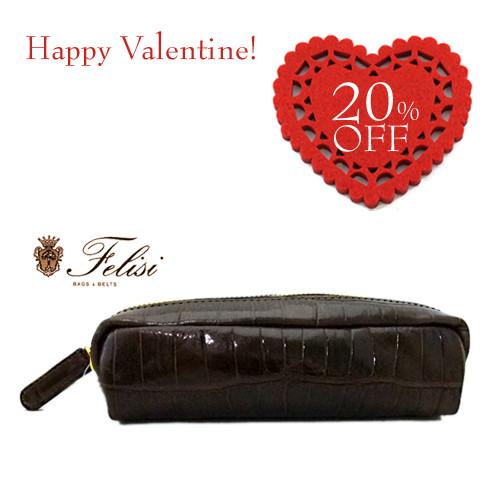 バレンタインに贈りたい!Felisiのレザーペンケース♪