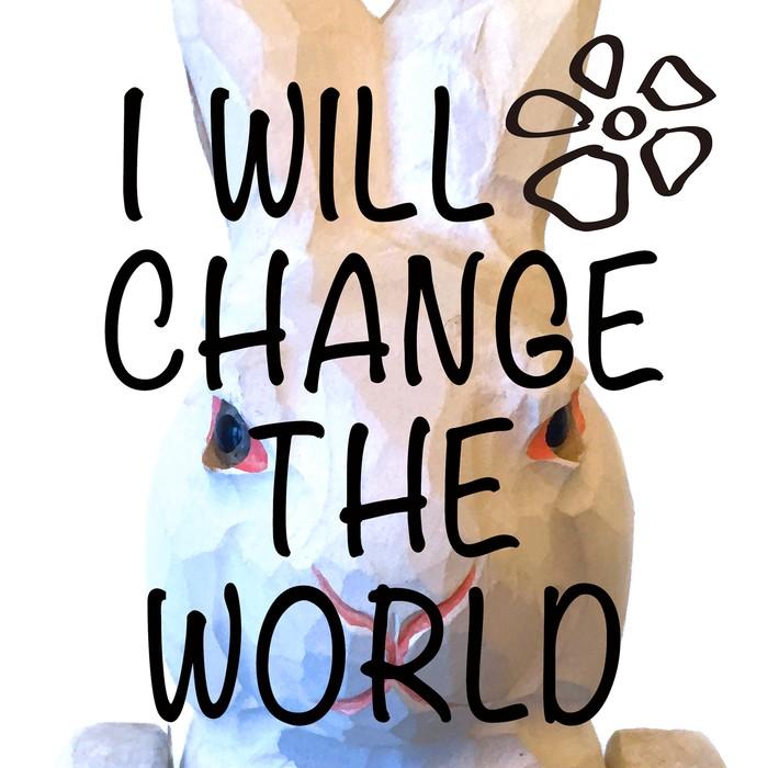 I WILL CHANGE THE WORLD / 私は世界を変えてみせる Vネックカットソー