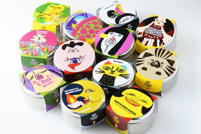 自分好みのイラストと香りを組み合わせて。Art Package Candle