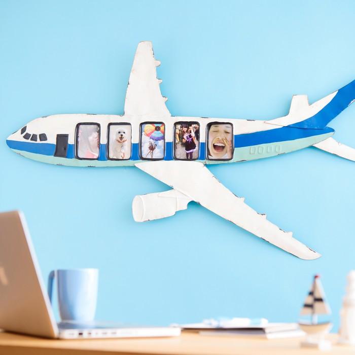 飛行機で、写真を可愛く飾りませんか??