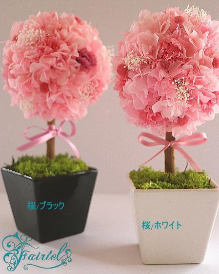 優しい気持ちの特別な贈り物。桜いろのトピアリー