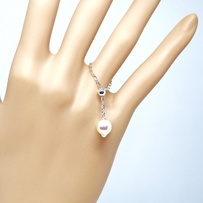 あなたはどの指につける?サイズ調整できるからプレゼントにも最適☆綺麗なしずく型あこや本真珠のリング