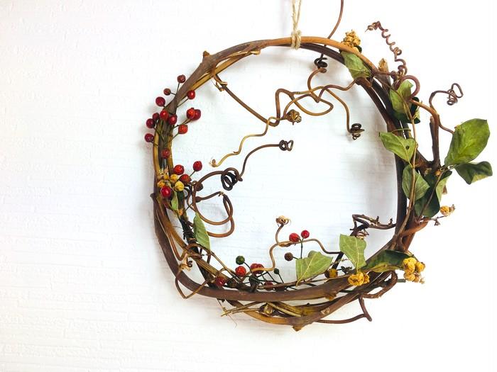 飾らない美しさを飾る〜山葡萄(山ぶどう)蔓のワイルドリース