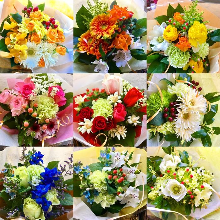 """気軽にサクっと""""花づくり"""" 自分で選んで自分で作る花束"""