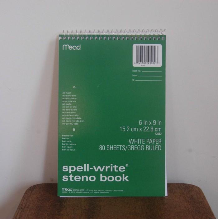効率よく、要点がまとまったメモがとれる! 機能性にこだわった速記用ノート「steno book」