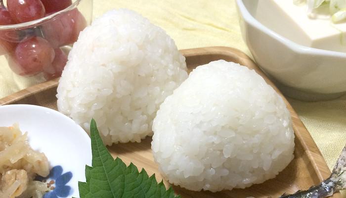 """そろそろ新米の季節!炊きたてのお米で作ったおにぎりは""""おにぎり型""""プレートにのせましょう♪"""