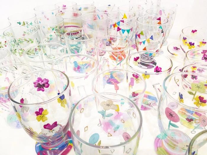 お花見シーズンにも◎かわいいが詰まったカラフルなグラス