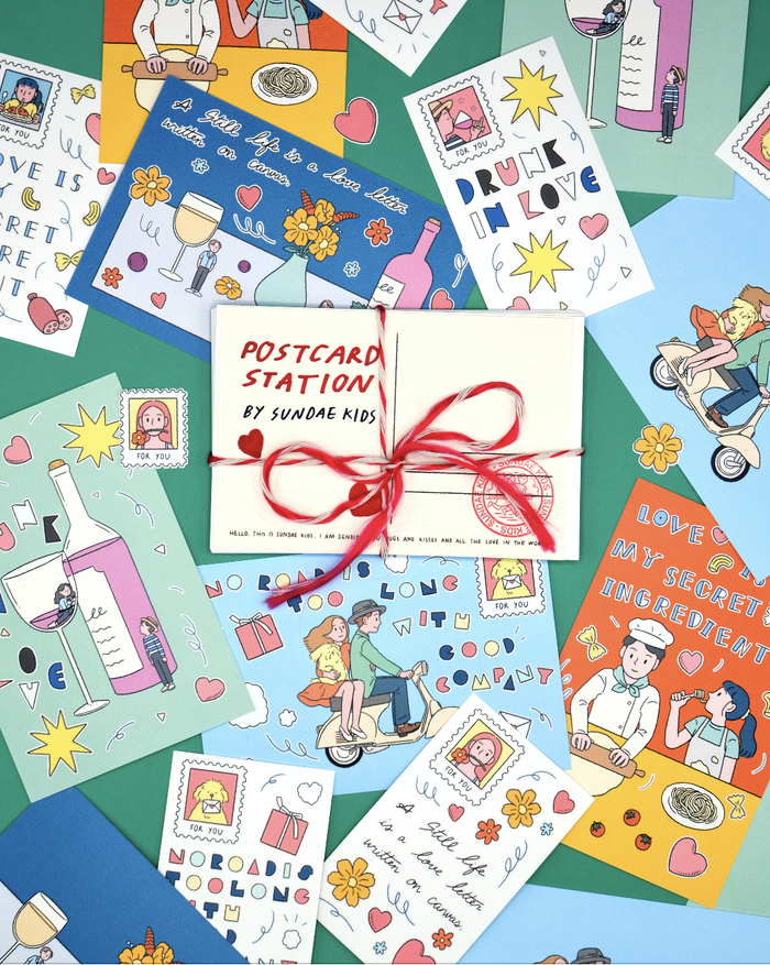 """タイで大人気のアーティスト""""SUNDAEKIDS""""による遊び心一杯のポストカード"""