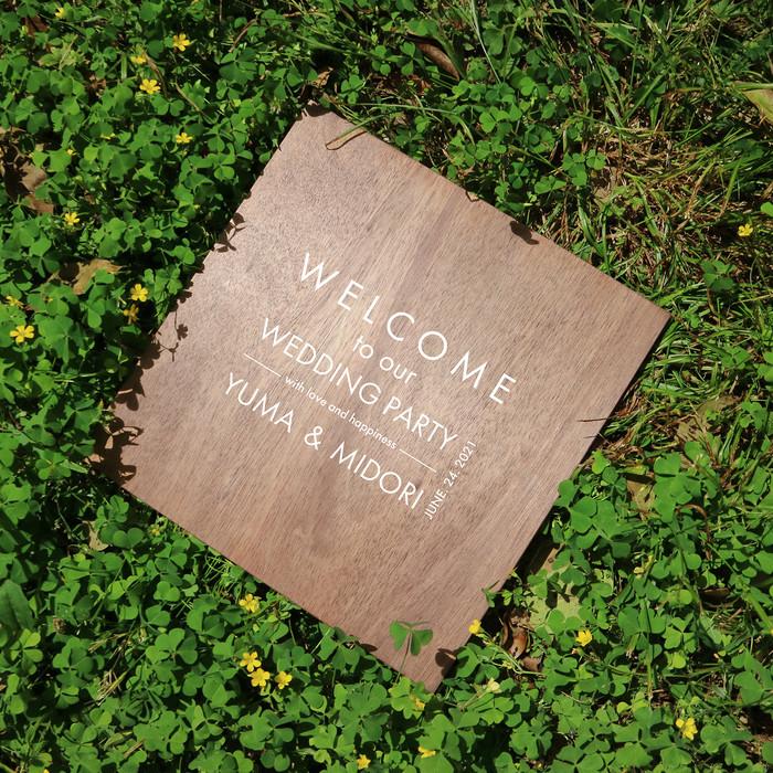 「ガーデンウェディングだけじゃない。」木製ウェルカムボード Conseil