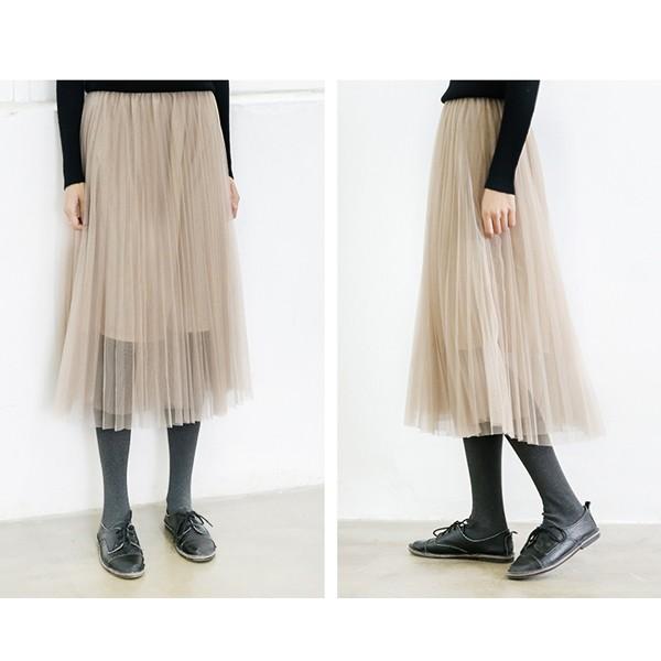 コーディネートの幅が広がり大活躍すること間違いなし。ミモレ丈のエレガントなプリーツスカート