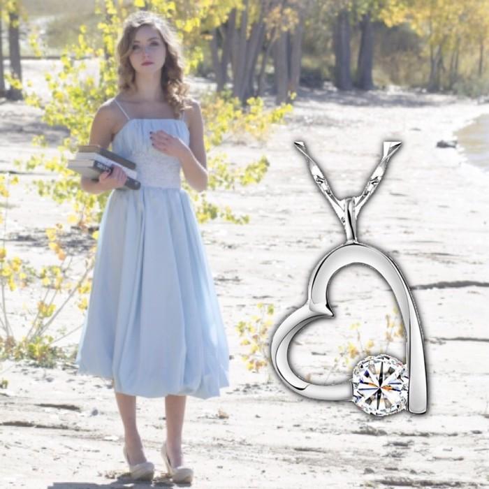 お姫様のような輝きを。ハートモチーフのネックレス