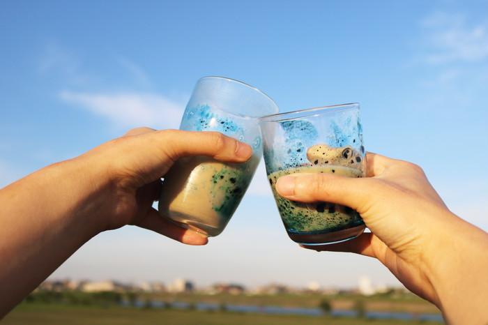 初夏のおうちカフェに。爽やかなガラスコップで、冷たいお飲み物で乾杯しましょう!*【父の日ギフト】