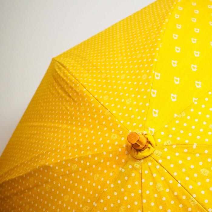 流行りのイエロー!作家さんが作る、ハンドメイド日傘