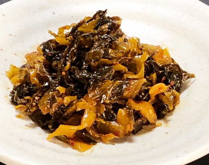 辛子高菜とツナの冷し素麺