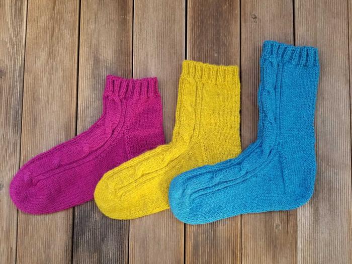 """これで足元あたたか、デンマーク産オーガニックウールを使用した""""Good Night Socks"""""""
