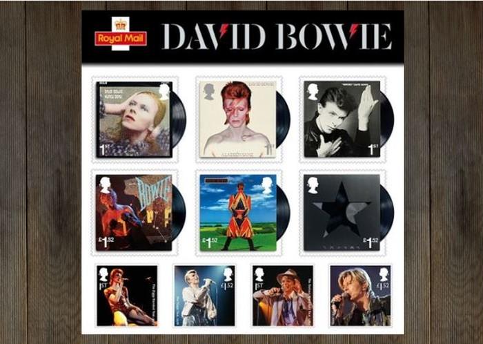 英国のRoyal Mailが発行した、DAVID BOWIE(デヴィッド・ボウイ)の記念切手