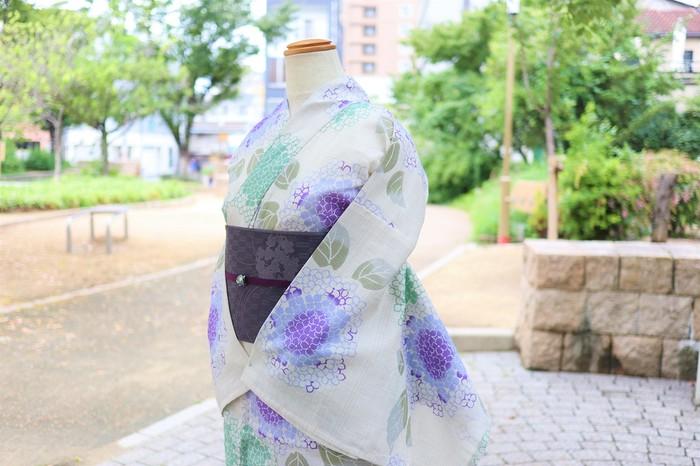 優しいオトナ浴衣◆紫陽花