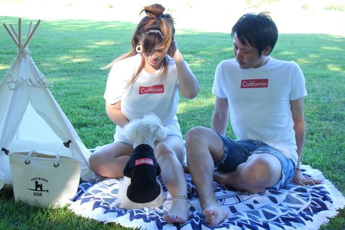 ♡ペット、カップル、お友達とのリンクコーデを楽しむ夏♡ボックスロゴTシャツ