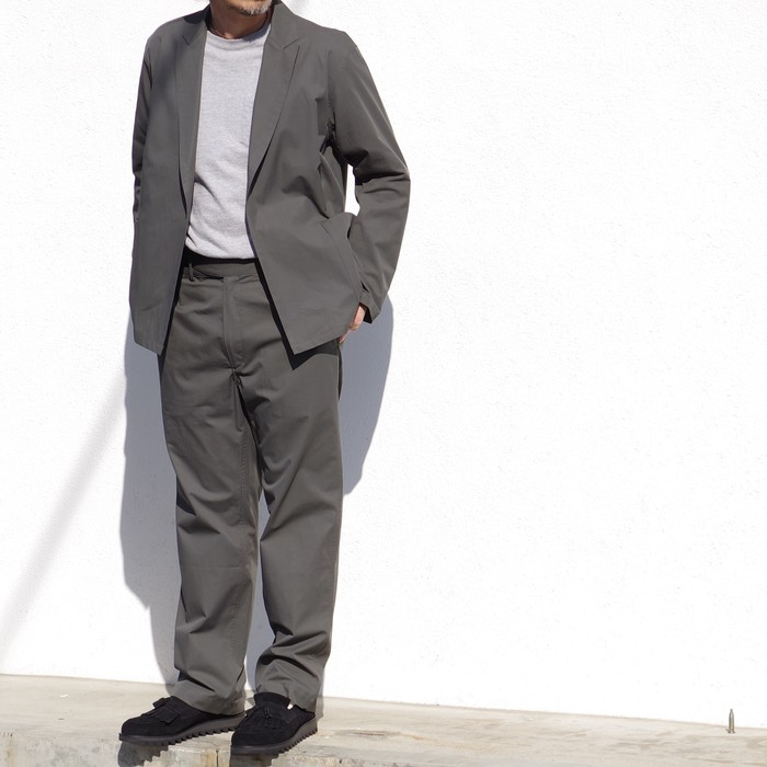【blurhms】 Gabardine AMF Jacket & Belt Roll Pants