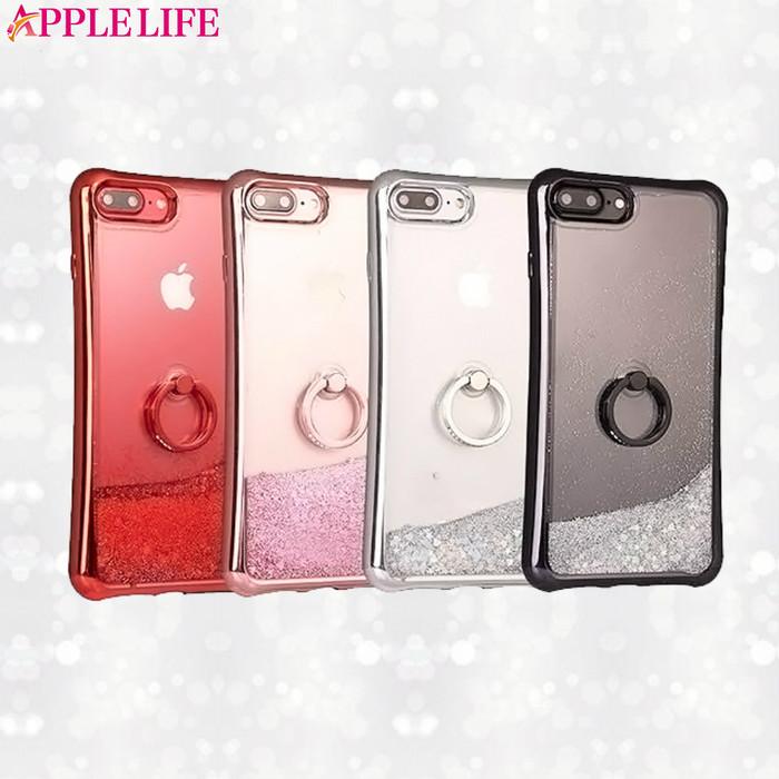 リング付きキラキラグリッターケースはiPhone6~iPhoneXSまで対応!