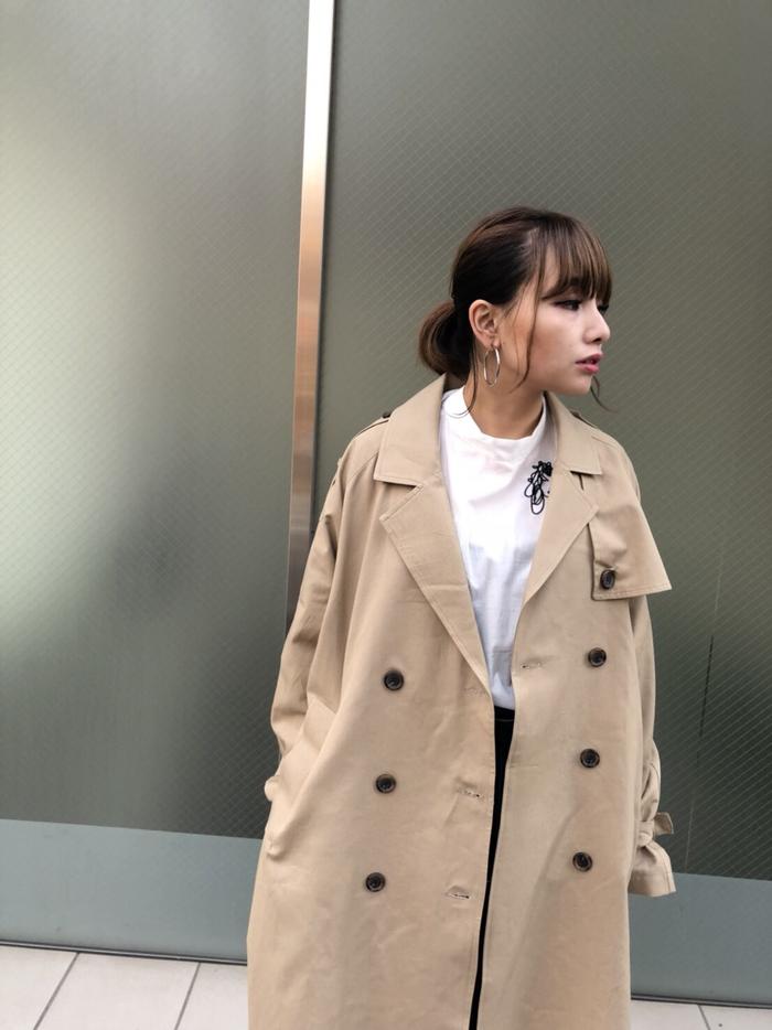 【HOW TO】春の本命アウター!メンズライクなオーバートレンチコート着こなし術!!