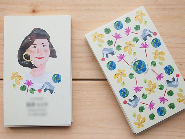 他にはない特別でオリジナルなイラスト名刺&ショップカードデザイン承ります♪