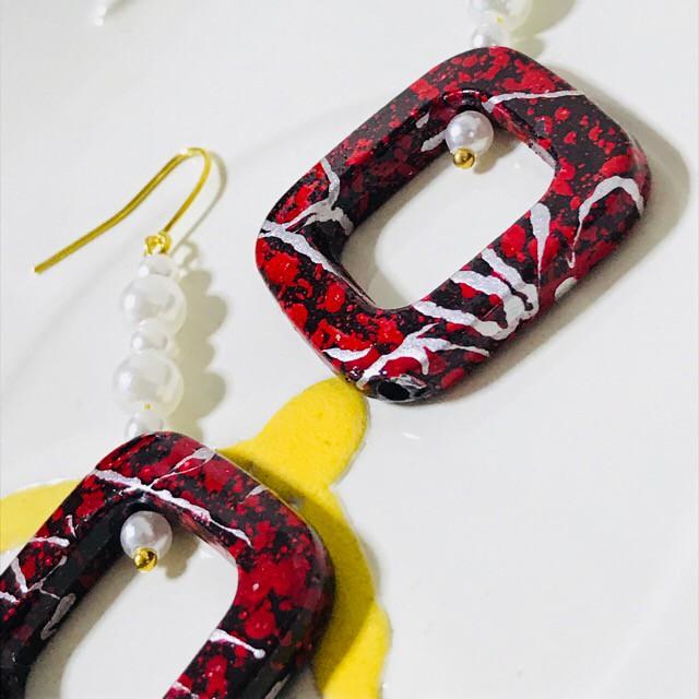夏祭りや花火大会にオススメ!浴衣に合う、インパクト大なイヤリング