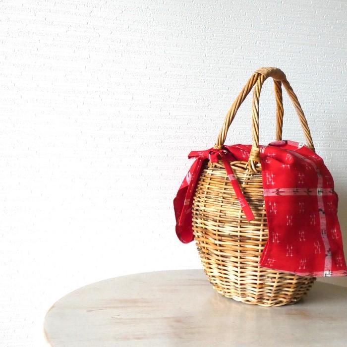 お気に入りのかごバッグも、オリジナルインナーバッグでますます素敵に