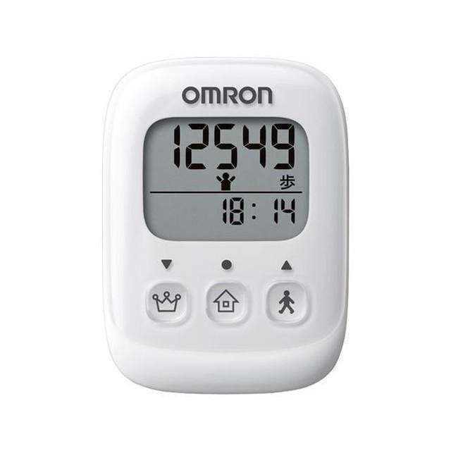 【OMRON オムロン】 シンプル 歩数計/万歩計 【ホワイト】 簡単操作 ウォーキング