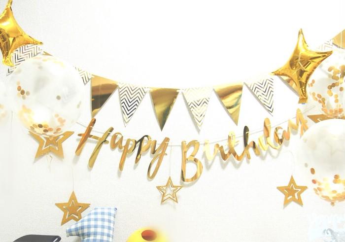 高級感のあるガーランドでおしゃれにお誕生日のお祝いをしたいあなたへ