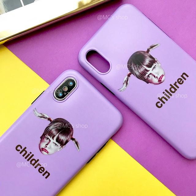キュートなレトロガール♡パープルとイエローのアメリカンポップなiPhoneケース