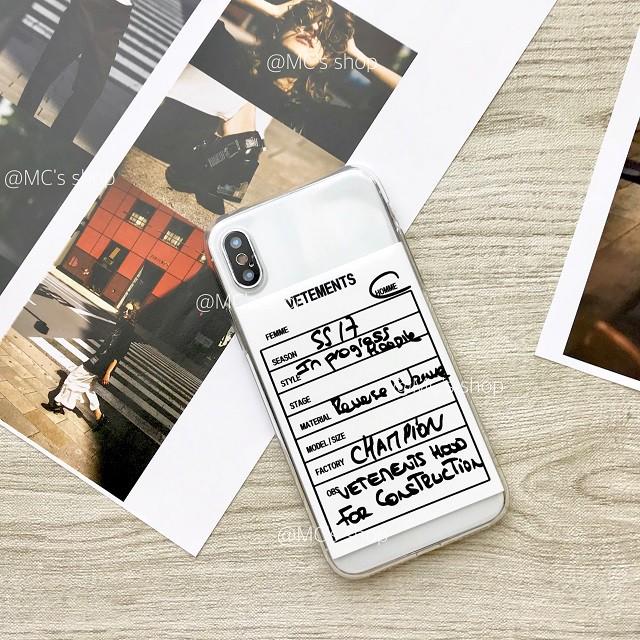 ユニークなオーダーシートモチーフiPhoneケース