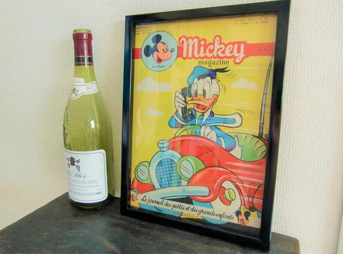 1954年発行のミッキー・マガジン。ウォルト・ディズニーの歴史を辿る逸品。