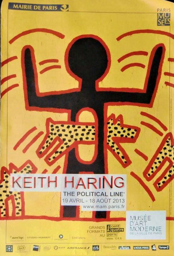 圧倒的な存在感を持つキース・ヘリングの大型ポスター