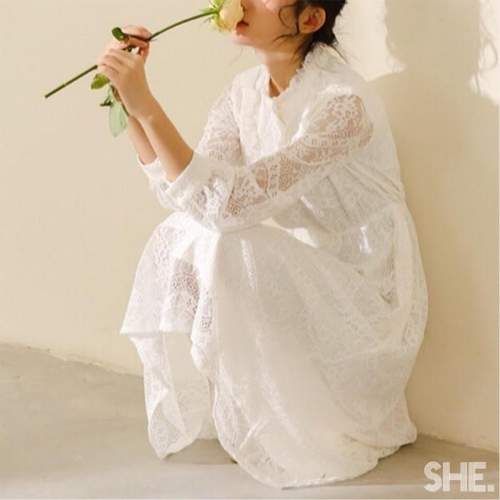 女の子なら1度は着てみたい♡憧れの真っ白ワンピースでピュアガールに。