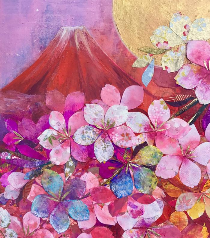 赤色の魔法♡一瞬で心が華やぎ、活力&集中力をアップする「赤富士桜」のインテリアアート