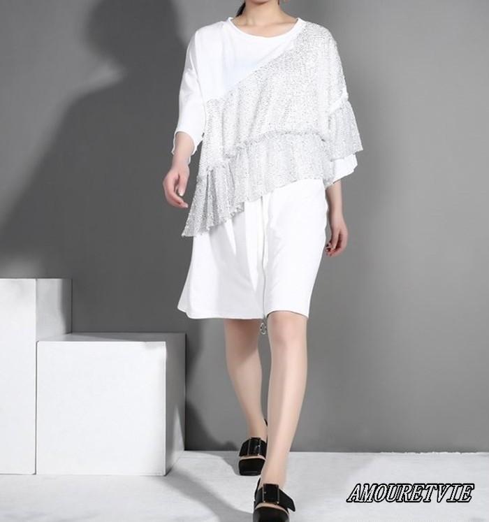 タッセルと呼ばれる美しい肩から胸元にかけてのデザインが魅力的♪爽やかな一着で春夏をリード★