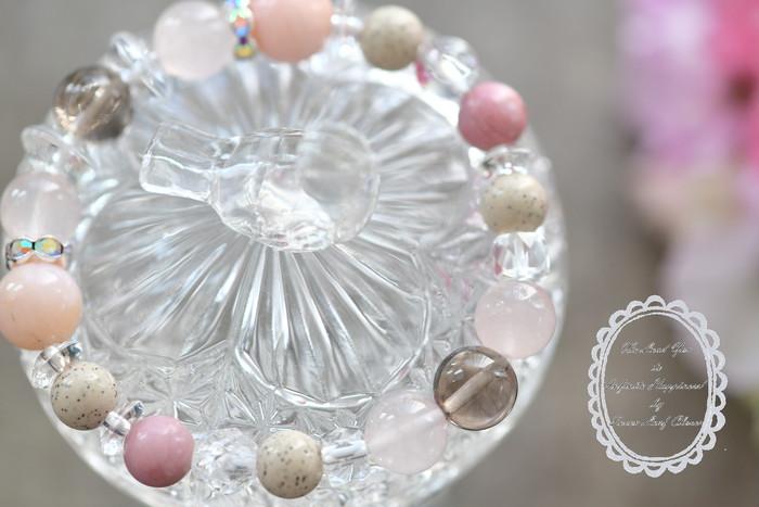 北投石の天然ホルミシス効果と優しいピンクオパールの波動があなたを癒すブレスレット