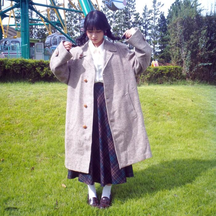 ロンドンガールがパパから借りたコート