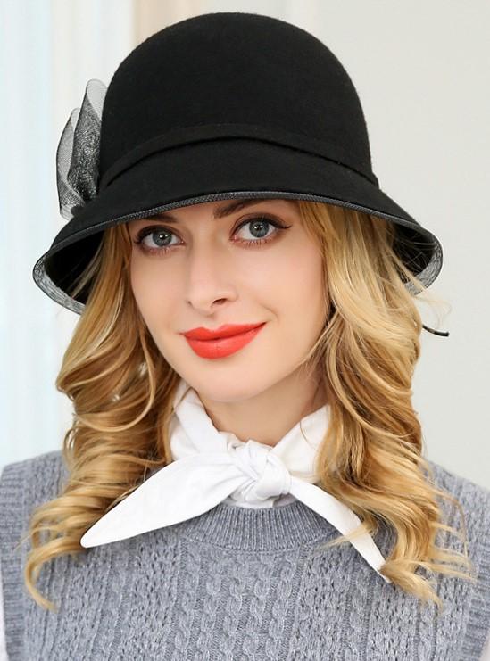 レディース帽子 秋冬 エレガントウールハット   商品番号 A110749