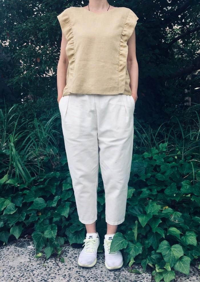 🌈✨甘さひかえめ * フリルトップ & 7分丈パンツ