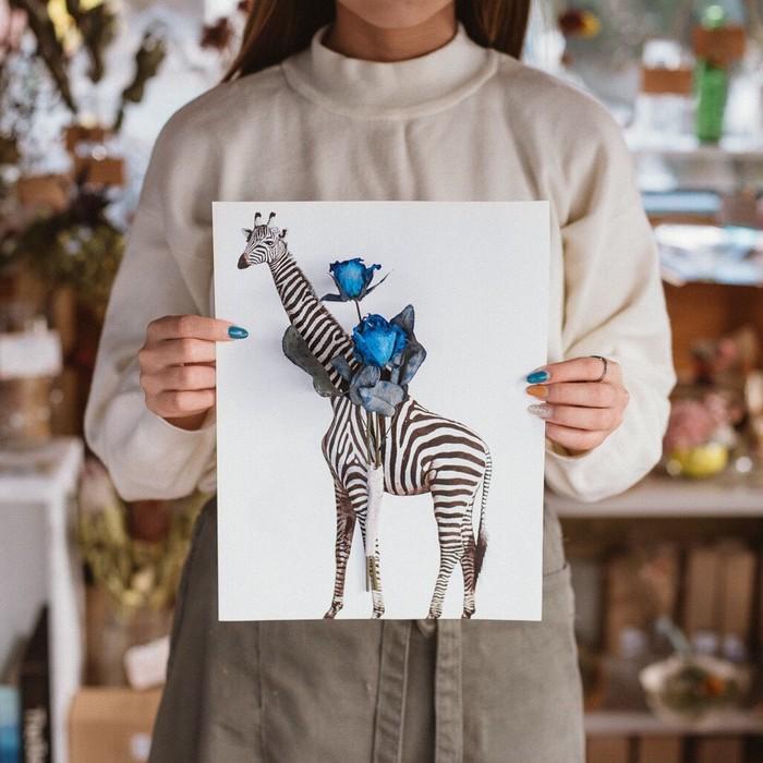 ドライフラワー専門店【ANTHOLOGY】公式 ペーパーフラワー Girafee×Zebra